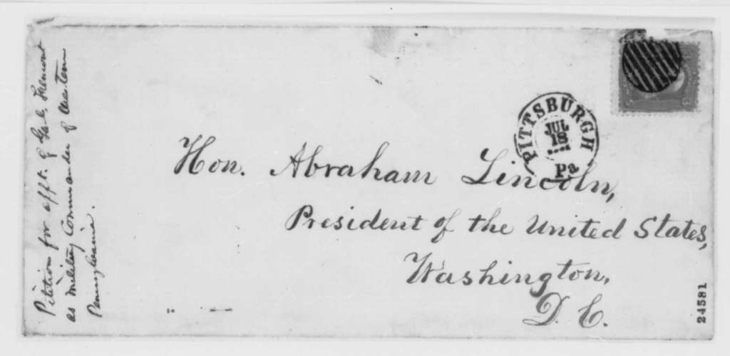 Pennsylvania Citizens to Abraham Lincoln, Tuesday, June 30, 1863  (Petition requesting appointment of Fremont)