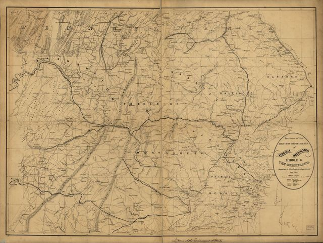 Portions of the military departments of Virginia, Washington, Middle & the Susquehanna,