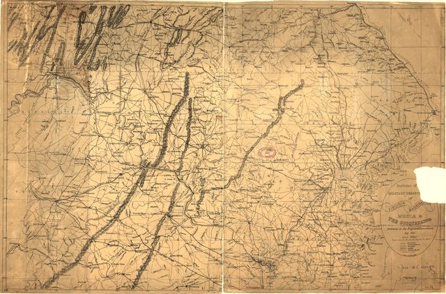 Portions of the military departments of Virginia, Washington, Middle & the Susquehanna /