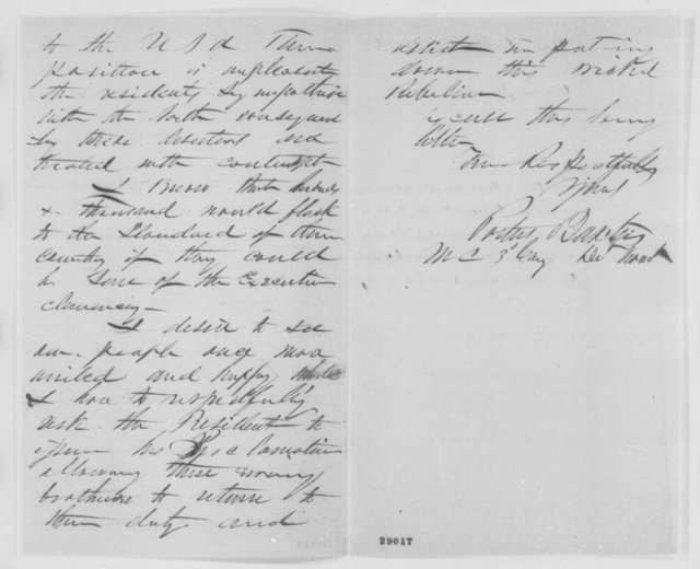 Portus Baxter to Abraham Lincoln, Thursday, December 31, 1863  (Deserters in Canada)