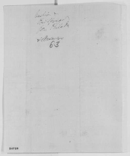 Rachel S. Evans to Abraham Lincoln, Thursday, July 09, 1863  (Sends sofa cushion)