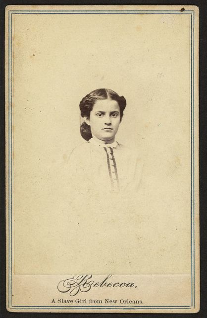 Rebecca. A slave girl from New Orleans / J. E. McClees, artist, 910 Chestnut Street, Philadelphia.
