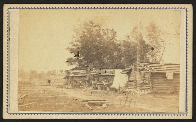 [Rebel huts, Port Hudson, Louisiana] / photographed by McPherson & Oliver, Baton Rouge, La.