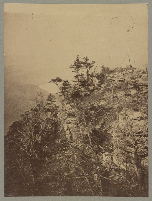 Rebel signal station, 1863, Wauhatchee side, Lookout Mountain Point, Tennessee