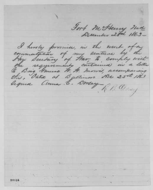 Richard B. Dorsey, Monday, December 28, 1863  (Statement)