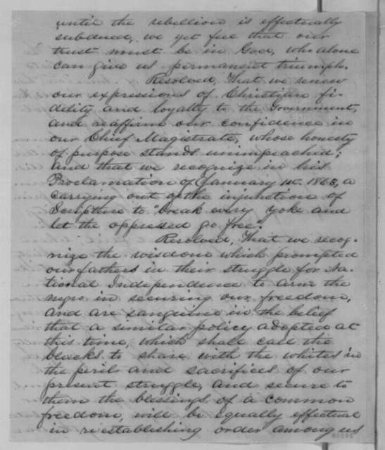 Richard Eddy to Abraham Lincoln, Tuesday, September 15, 1863  (Resolutions of the General Convention of Universalists)