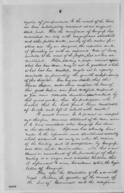 Richard S. Coxe to Abraham Lincoln, December 1863  (Report on revision of laws in Washington D.C.)