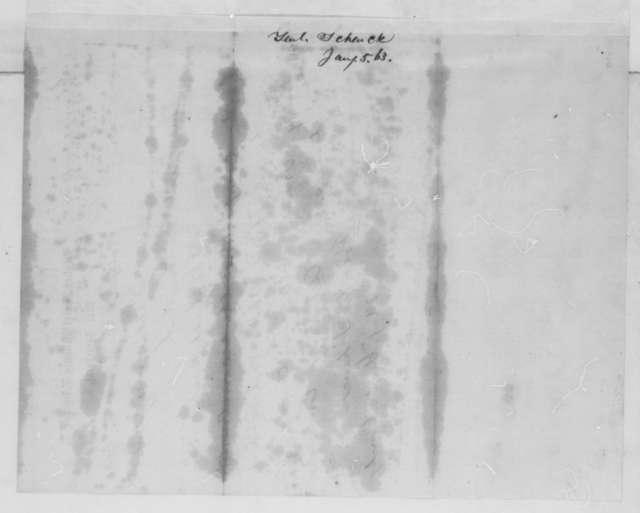 Robert C. Schenck to Abraham Lincoln, Monday, January 05, 1863  (Telegram reporting Baltimore and Ohio Railroad has been repaired)
