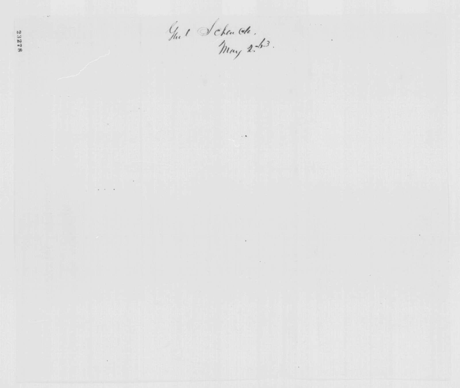 Robert C. Schenck to Henry W. Halleck, Saturday, May 02, 1863  (Telegram concerning military affairs)