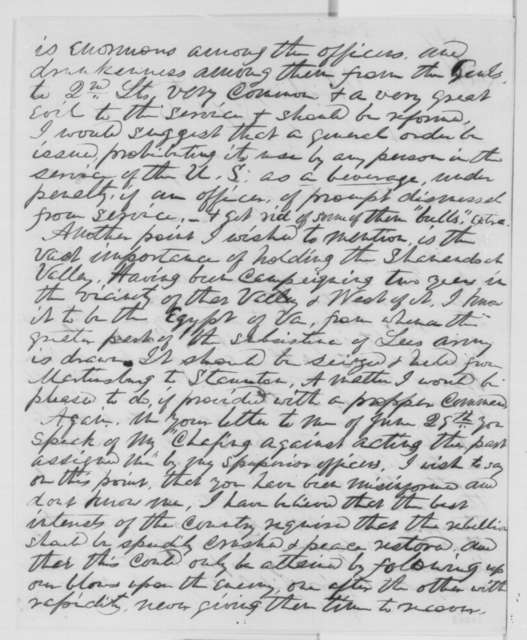 Robert H. Milroy to Abraham Lincoln, Sunday, September 13, 1863  (Military affairs)