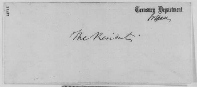 Salmon P. Chase to Abraham Lincoln, Monday, October 05, 1863  (Sends newspaper clippings)