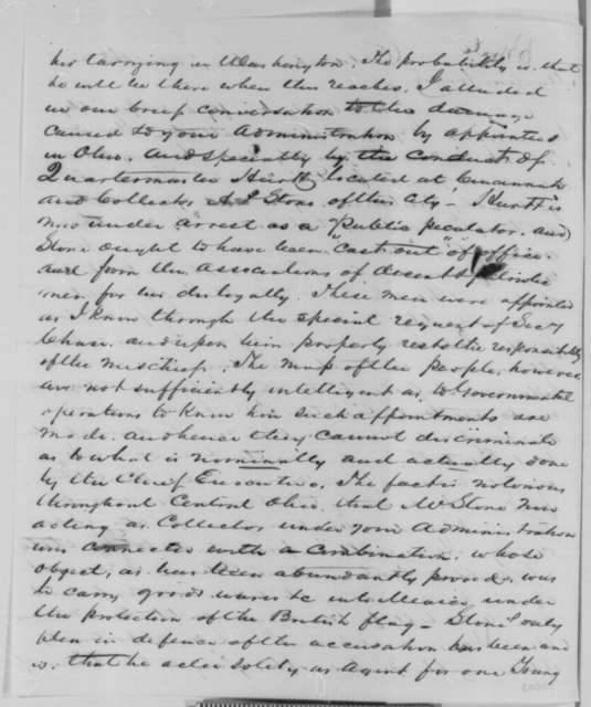 Samuel Galloway to Abraham Lincoln, Friday, August 14, 1863  (Introduces former Governor Tod and discusses political appointments)