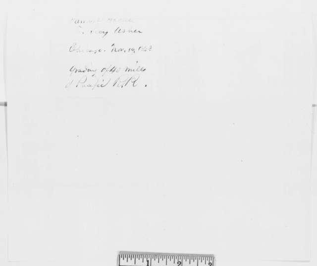Samuel Hallett to John P. Usher, Thursday, November 19, 1863  (Telegram concerning Union Pacific Railroad)