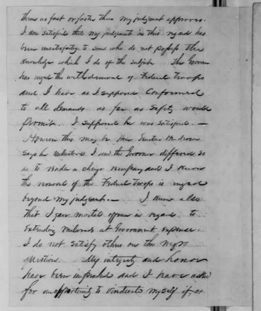 Samuel R. Curtis to Abraham Lincoln, Monday, March 23, 1863  (Removal from command)