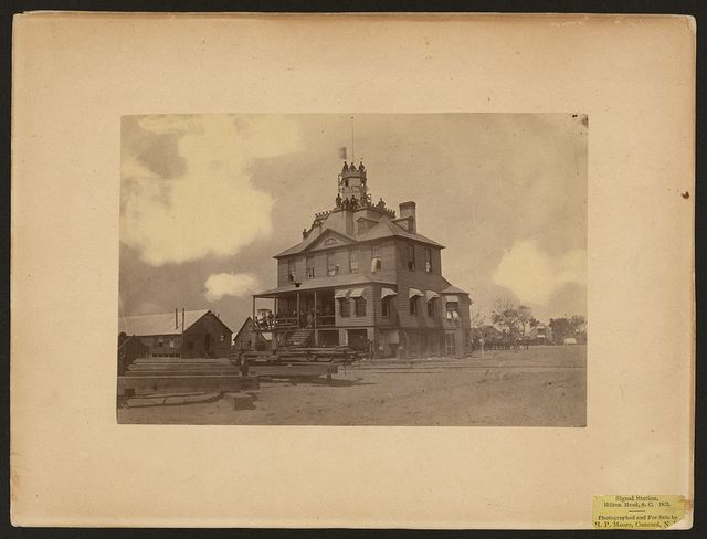 Signal Station, Hilton Head, South Carolina, 1863 / photographed and for sale by H. P. Moore, Concord, N.[H].