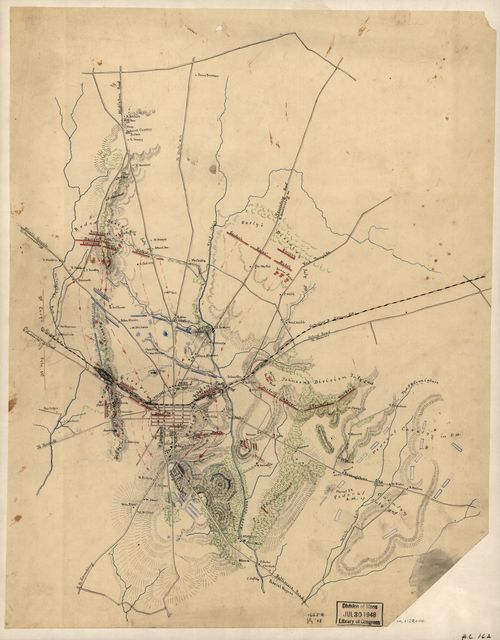 [Sketch of the battlefield of Gettysburg, July 1st and 2nd, 1863].
