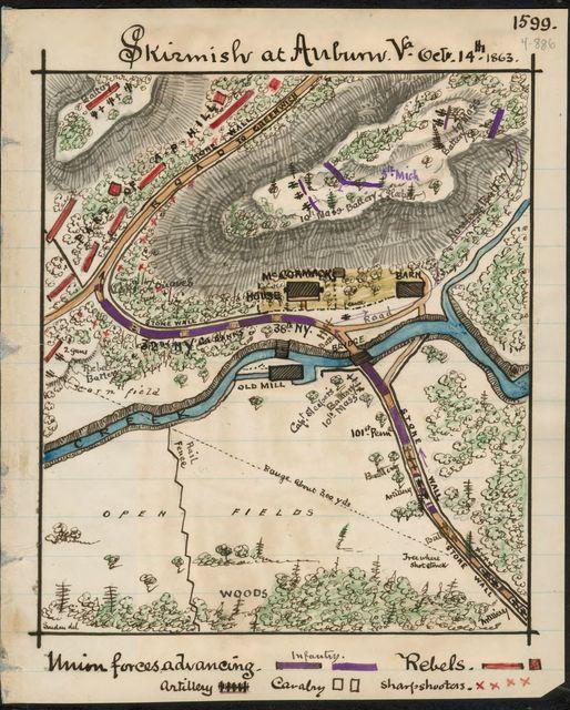 Skirmish at Auburn, Va., Oct. 14th, 1863