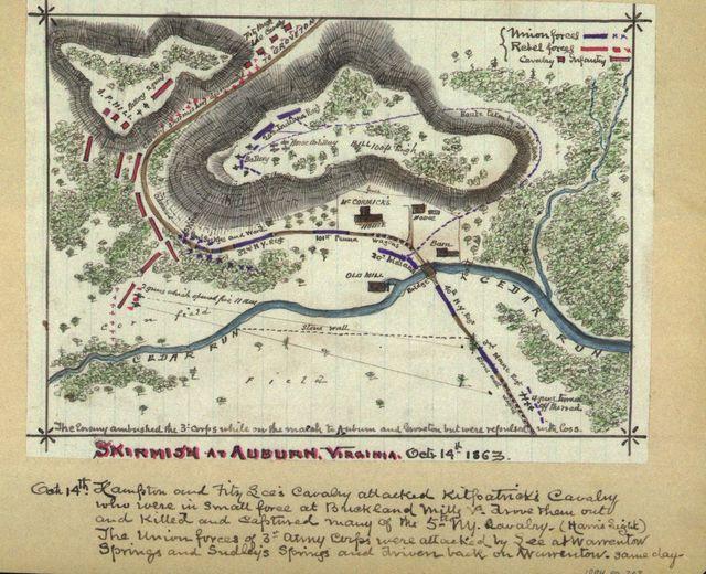 Skirmish at Auburn, Virginia, Octr. 14th 1863