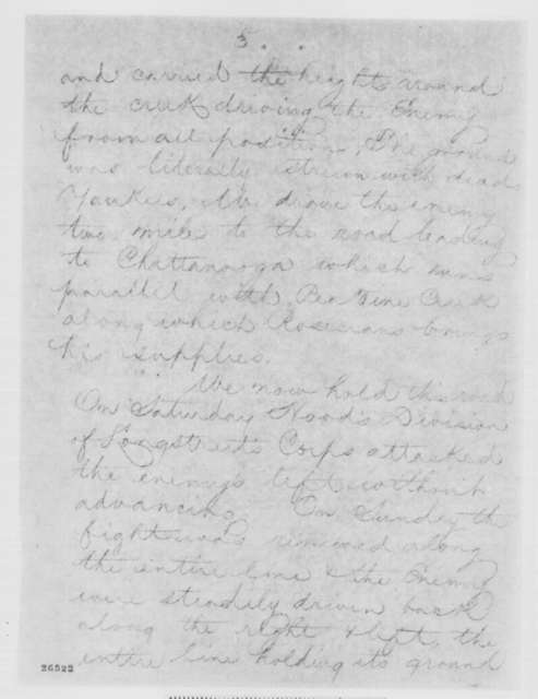 Solomon Meredith to Edwin M. Stanton, Wednesday, September 23, 1863  (Telegram conveying information from the Richmond newspaper)