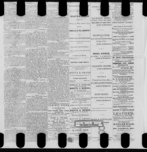 St. Joseph Daily Tribune, Sunday, October 11, 1863  (Newspaper)