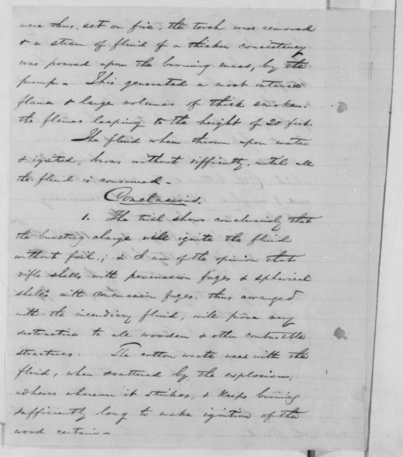 Stephen V. Benet to James W. Ripley, Friday, April 10, 1863  (Results of tests conducted on incendiary shells)
