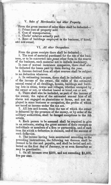 Supplemental instructions for collectors and assessors of taxes ... Richmond, Sept. 3d. 1863.