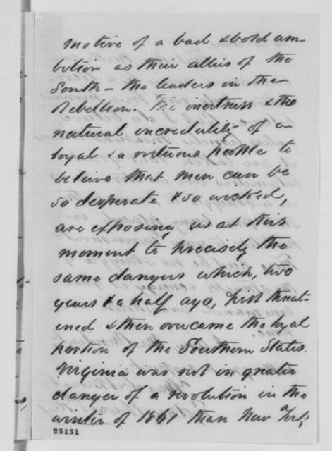 Sydney H. Gay to Abraham Lincoln, Sunday, July 26, 1863  (Recommends Judge Edmonds be appointed to investigate New York draft riot)