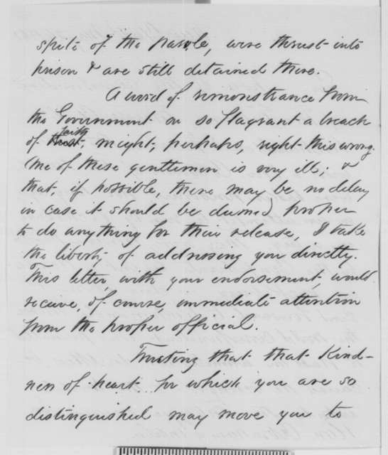 Sydney H. Gay to Abraham Lincoln, Tuesday, May 26, 1863  (Newspaper correspondents captured by the Confederates at Vicksburg)