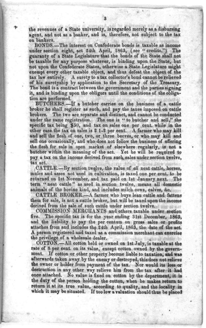 Synopsis of decisions under the confederate tax law. Published by authority of secretary of treasury. [1863].