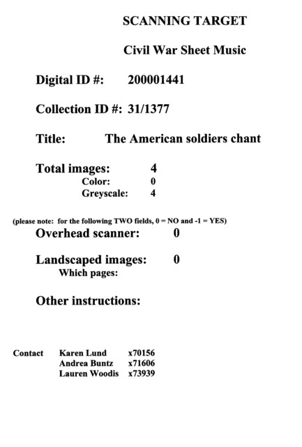 The  American soldiers chant