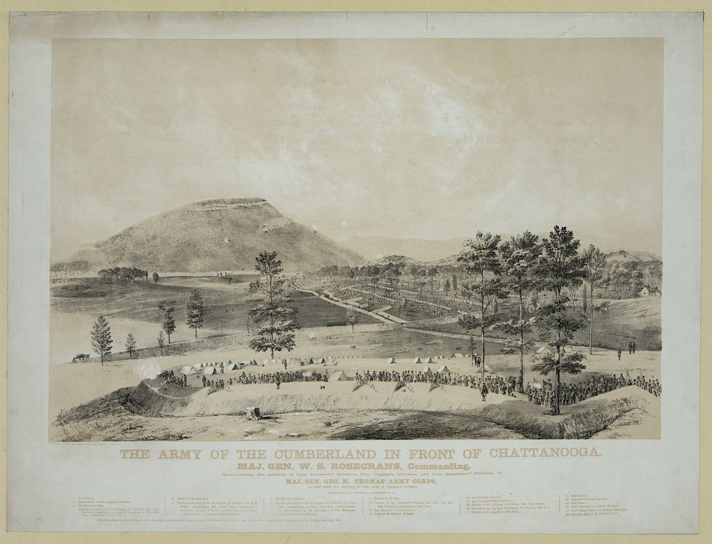 The Army of the Cumberland in front of Chattanooga / J.G. 1863 ; lith. by Donaldson & Elmes.