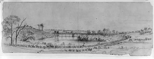 The Army of the Potomac crossing the Rappahannock River. Retreat from Culpepper [sic] to Centreville