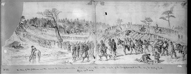 The Army of the Potomac, on the march to Chancellorsville