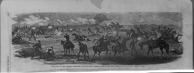 The Army of the Potomac - skirmish at Upperville, Virginia, June 21, 1863 / from a sketch by Mr. A.R. Waud.