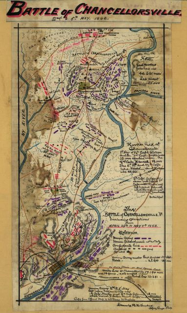 The Battle of Chancellorsville, Va., including operations from April 29th to May 5th, 1863