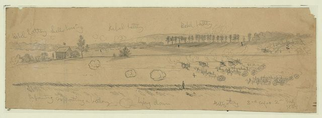 The battle of Gettysburg. Attack on the Third Corps, Gen. Daniel E. Sickles, by Gen. Longstreet's Corps