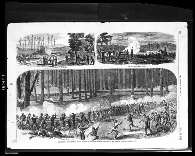 The battle of Raymond / sketched by Mr. Theodore R. Davis.