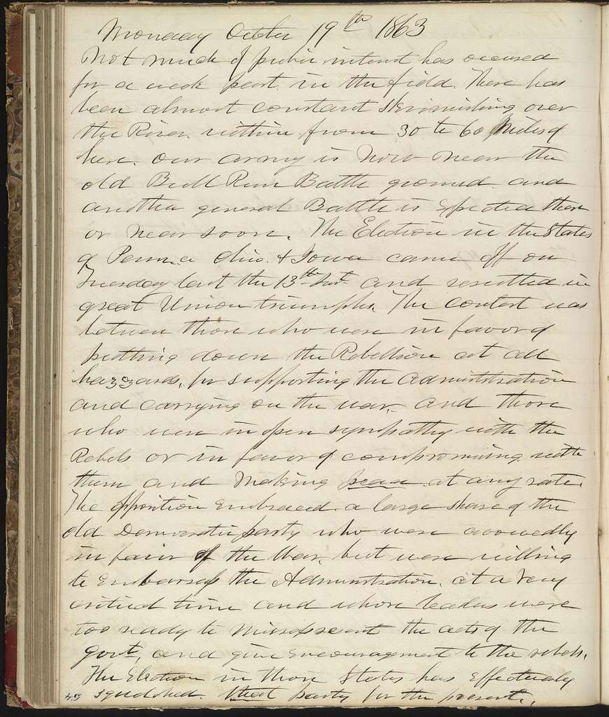 The Diary of Horatio Nelson Taft, 1861-1865. Volume 2, January 1-December 31, 1863