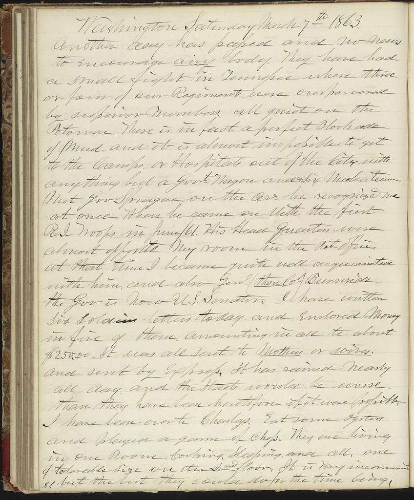 The Diary of Horatio Nelson Taft, 1861-1865. Volume 2, January 1-December 31, 1863