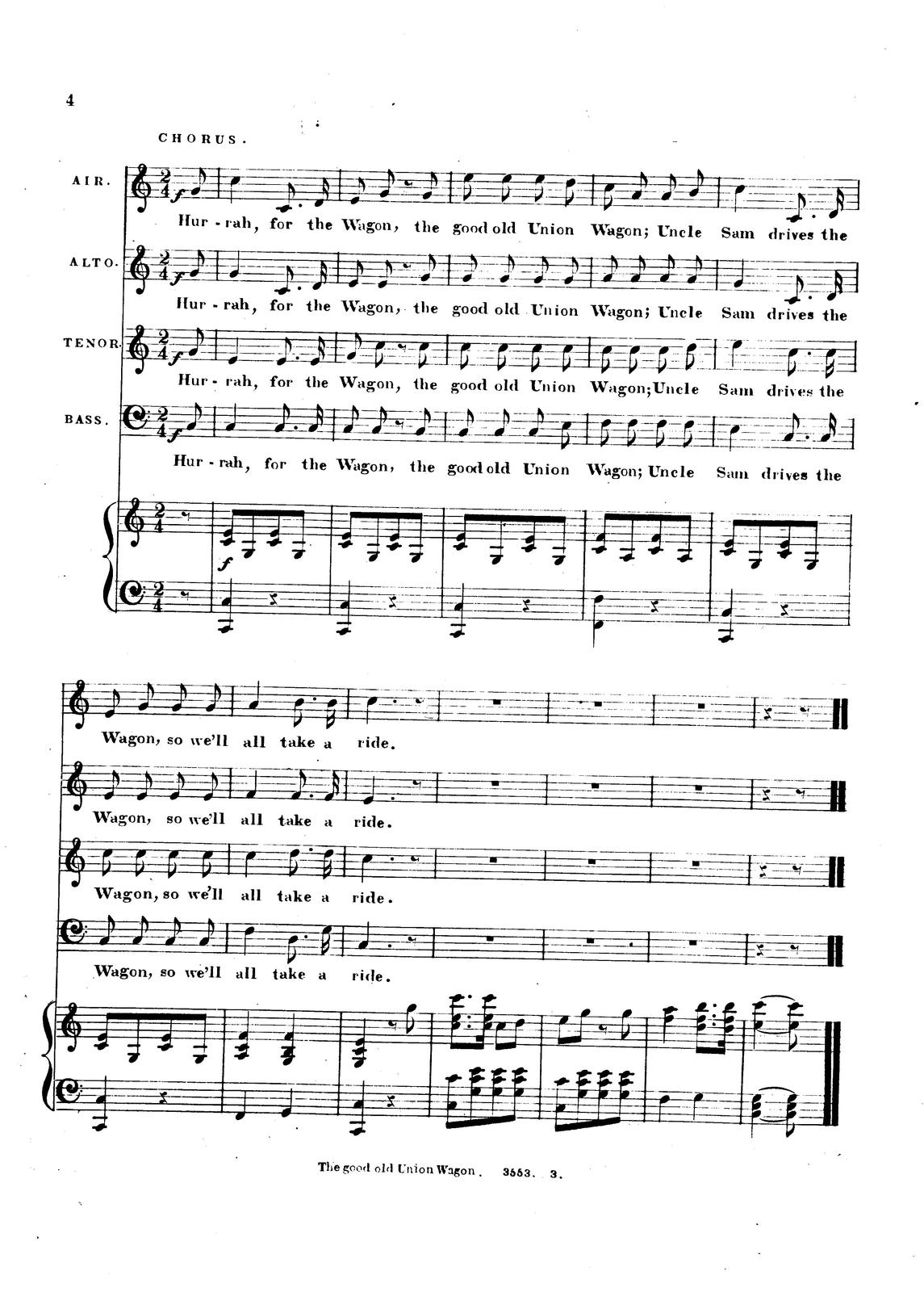 The good old Union wagon: corrected from the original song, called The secession wagon by S. Matthews.