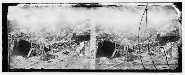 The Home of a Rebel Sharpshooter, on battle field of Gettysburg