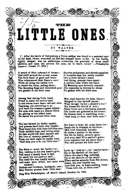 The little ones. By Walter. Flag Ship Philadelphia, off Morris Island, October 24, 1863