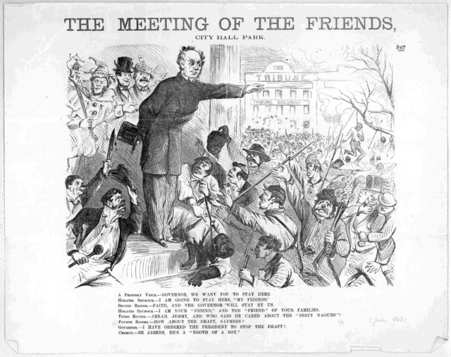 The meeting of the friends, City Hall Park. [New York, July 1863].
