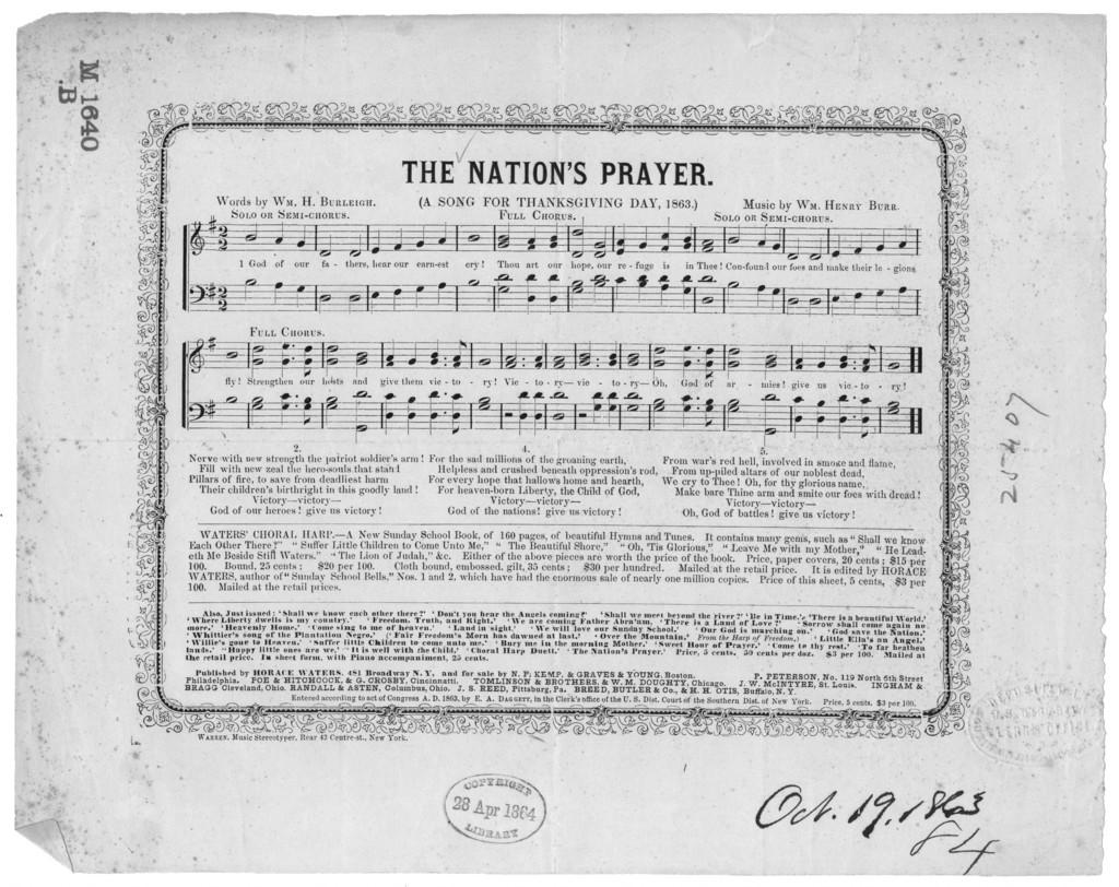 The  Nation's prayer