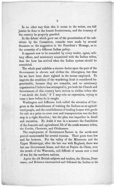 The relations of the government to the Indian tribes. Letter to Hon. James Doolittle, U. S. Senator, from Wisconsin. Philadelphia, January 31, 1863.