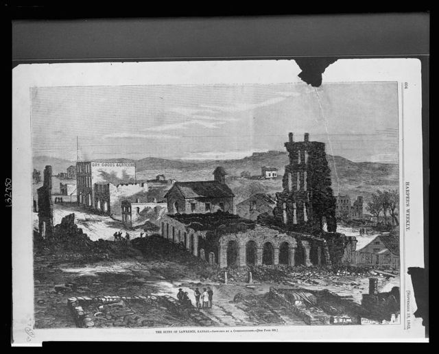 The ruins of Lawrence, Kansas / sketched by a correspondent.
