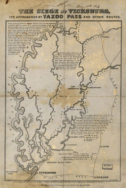 The siege of Vicksburg, its approaches by Yazoo Pass and other routes