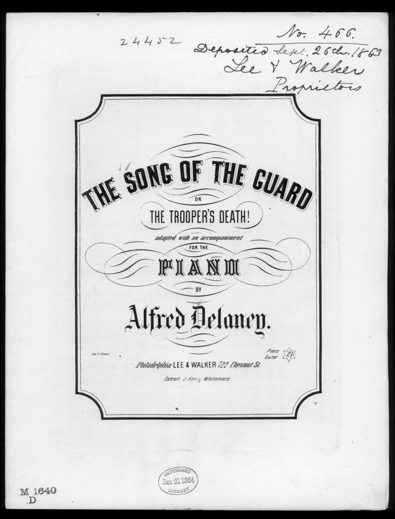 The  Song of the guard, or The Trooper's death