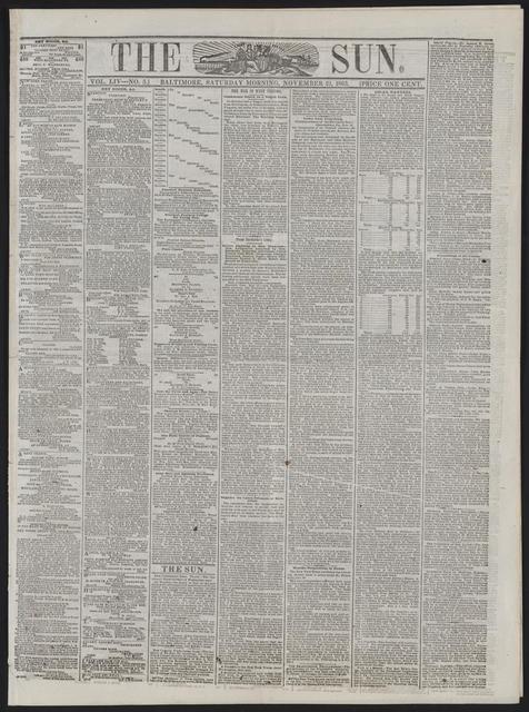 The Sun, [newspaper]. November 21, 1863.