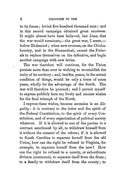 The war in the United States : report to the Swiss Military Department : preceded by a discourse to the Federal Military Society assembled at Berne, Aug. 18, 1862 /